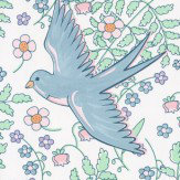 Eijffinger Floral Swallows Duck Egg  Wallpaper - Product code: 359020