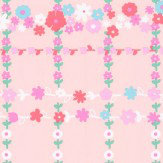 Eijffinger Garden Check Pink Wallpaper