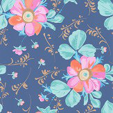 Eijffinger Paintery Floral Blue  Wallpaper