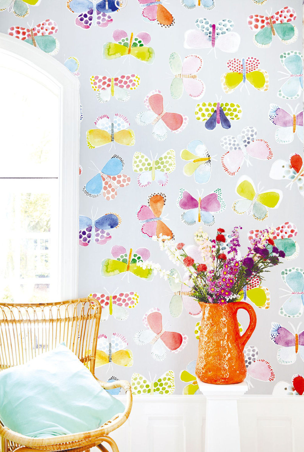 Eijffinger Butterflies in my stomach Grey Mural - Product code: 359151