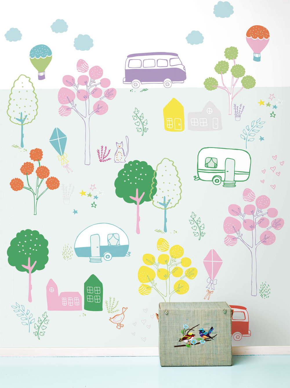 Eijffinger Take me on a road trip Now Multi-coloured Mural - Product code: 359170