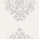 Casadeco Damask Motif White Wallpaper