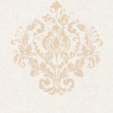 Casadeco Damask Motif Sand Wallpaper