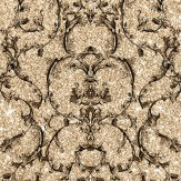 Albany Baroque Scroll Gold Wallpaper