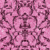 Albany Baroque Scroll Hot Pink Wallpaper