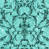 Albany Baroque Scroll Hot Teal Wallpaper