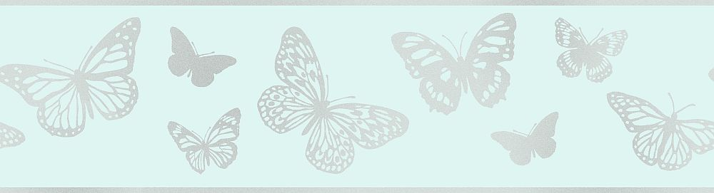 Albany Butterfly Blue Border main image