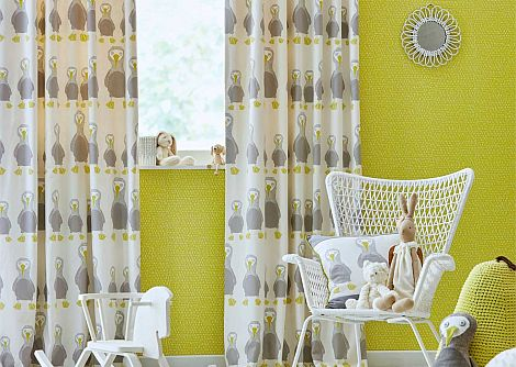 Scion Booby Bird Pistachio Fabric - Product code: 120451