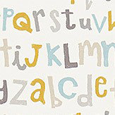 Scion Letters Play Hemp / Biscuit / Paper Fabric - Product code: 120455