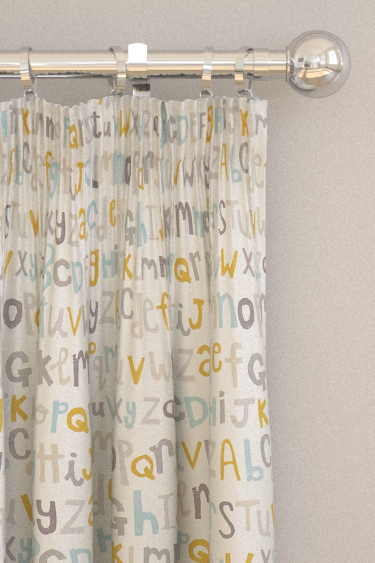 Scion Letters Play Hemp / Biscuit / Paper Curtains - Product code: 120455