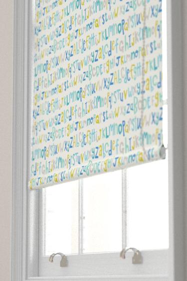 Scion Letters Play Citrus / Denim / Lagoon Blind - Product code: 120456