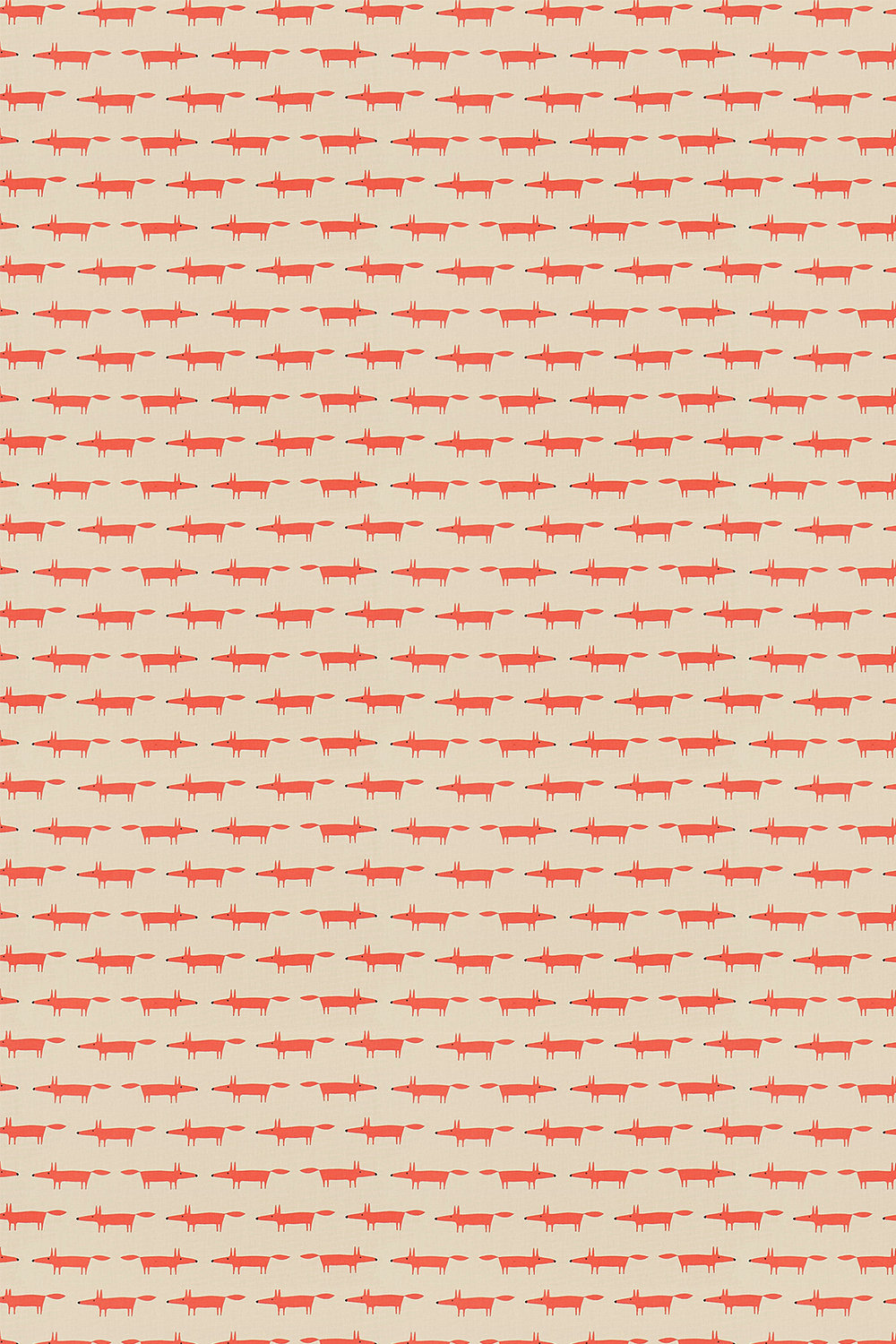 Scion Little Fox Ginger Fabric - Product code: 120462