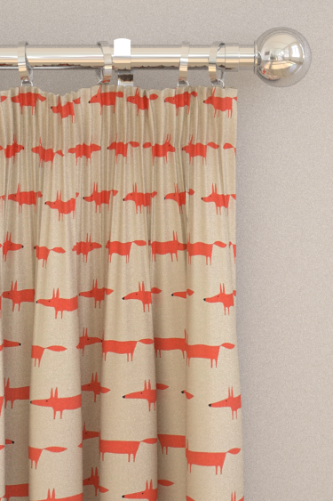 Scion Little Fox Ginger Curtains - Product code: 120462
