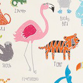 Scion Animal Magic Tutti Fruitti / Chalk Fabric - Product code: 120467