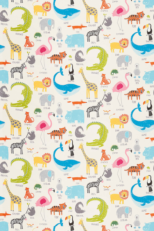 Animal Magic Fabric - Tutti Fruitti / Chalk - by Scion