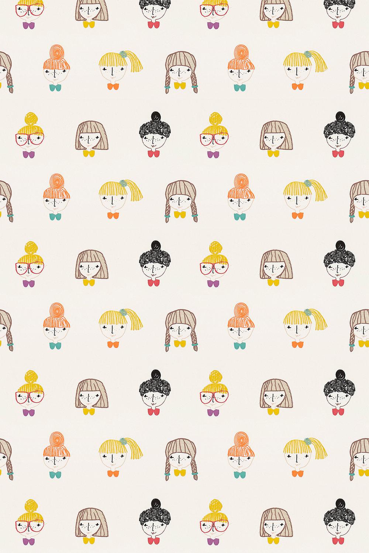 Scion Hello Dolly Sunshine / Tangerine / Violet Fabric - Product code: 131656
