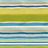 Clarke & Clarke Sunrise Stripe Aqua / Citrus Wallpaper