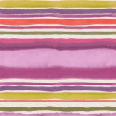 Clarke & Clarke Sunrise Stripe Passion Wallpaper