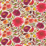 Clarke & Clarke Zinnias Autumn Wallpaper
