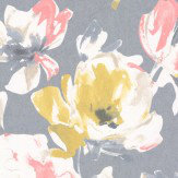 Casadeco Floral Print Yellow Wallpaper