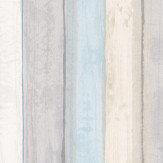 Casadeco Wood Stripe Aqua Wallpaper - Product code: 26846134