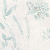 Casadeco Distressed Floral Aqua Wallpaper - Product code: 26916130