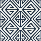 Thibaut Demetrius Navy Wallpaper