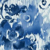 Thibaut Waterford Floral Blue Wallpaper