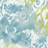 Thibaut Waterford Floral Aqua Wallpaper - Product code: T24342