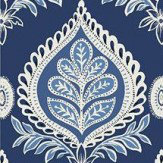 Thibaut Midland Navy Wallpaper