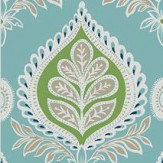 Thibaut Midland Blue / Green Wallpaper - Product code: T24316