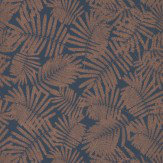 Clarissa Hulse Espinillo Indigo / Copper Wallpaper