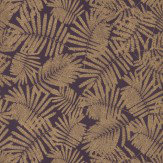Clarissa Hulse Espinillo Aubergine / Gold Wallpaper