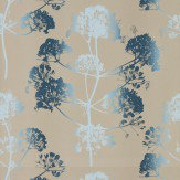 Clarissa Hulse Angeliki Indigo / Pewter Wallpaper