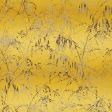 Clarissa Hulse Meadow Grass Mimosa / Mulberry Wallpaper