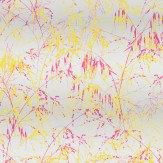 Clarissa Hulse Meadow Grass Fuchsia / Lemon Wallpaper