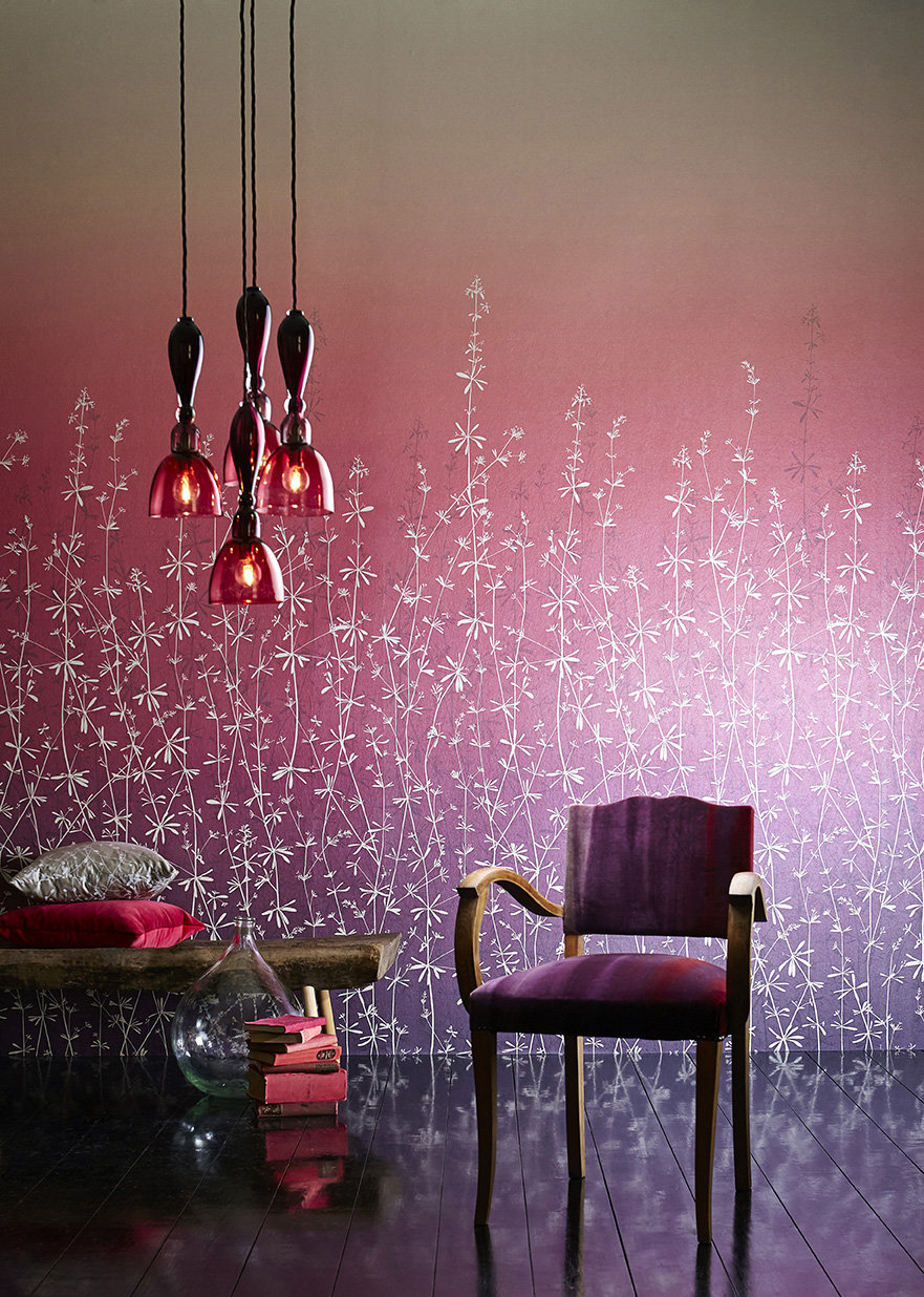 hortelano wall panel  clarissa hulse amethyst ruby wallpaper direct