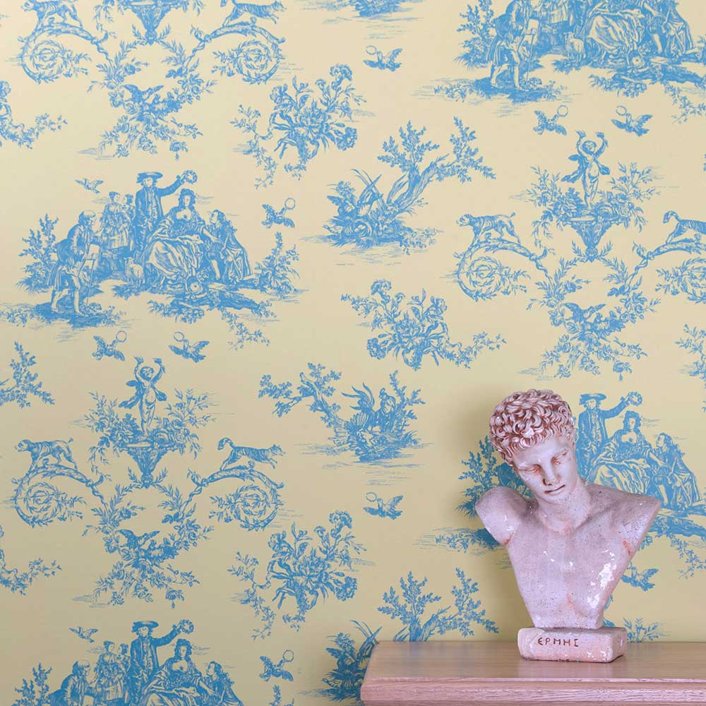 Toile Wallpaper - Litlington - by Albany