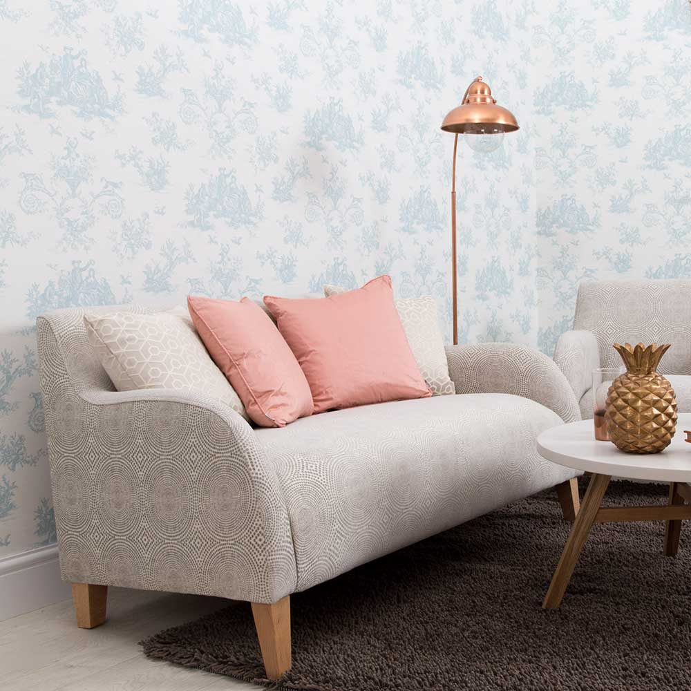Toile Wallpaper - Fordingbridge - by Albany