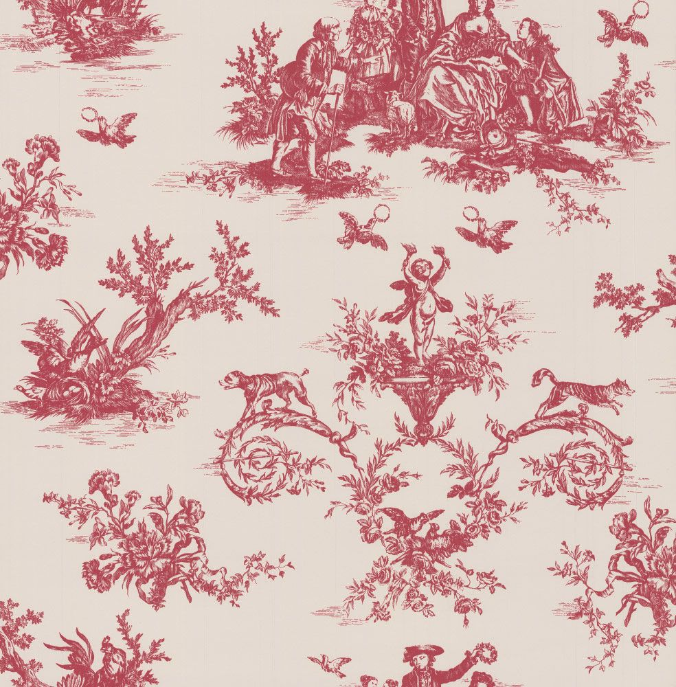 Albany Toile Berry Head Wallpaper main image