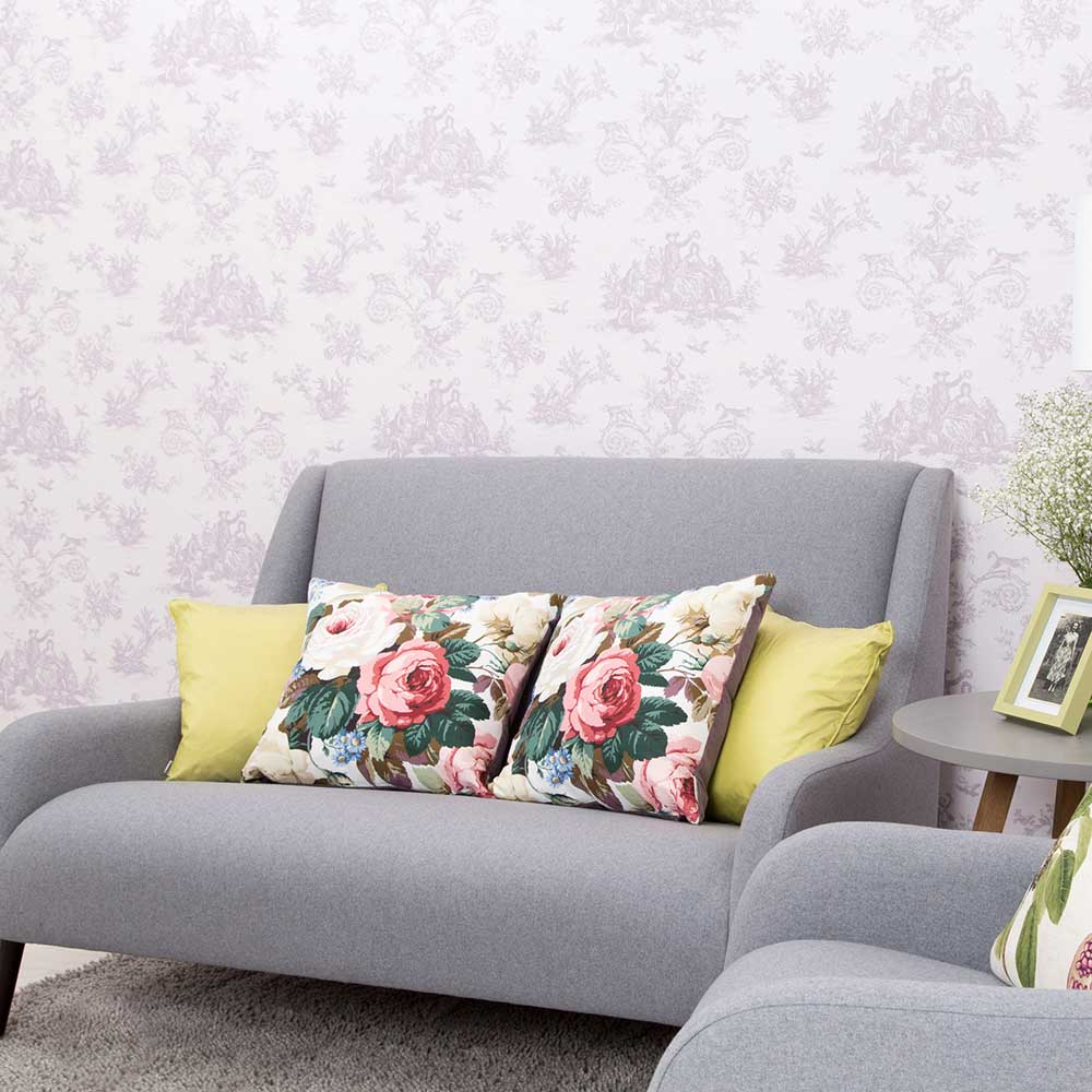 Toile Wallpaper - Kits Coty - by Albany