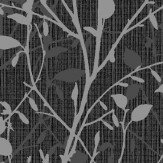 Arthouse Bosco Black / Silver Wallpaper