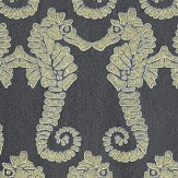 Barneby Gates Seahorse Charcoal Charcoal Gold Wallpaper - Product code: BG1400101
