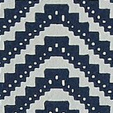 Barneby Gates Chevron Blue Black Wallpaper