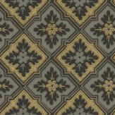 Sandberg Edvin Charcoal / Gold Wallpaper - Product code: 482-81