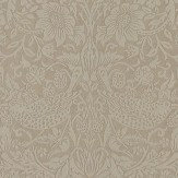 Morris Pure Strawberry Thief Taupe /Gilver Wallpaper