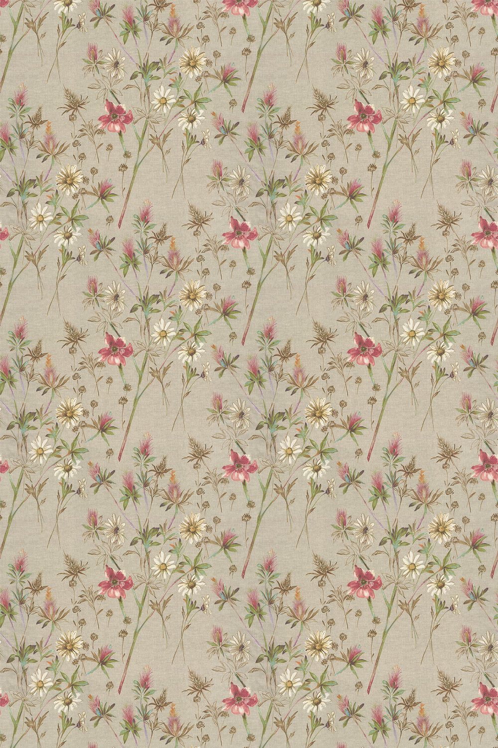 Wordsworth Fabric - Berry - by Prestigious