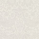 Morris Pure Strawberry Thief Oyster / Chalk Wallpaper - Product code: 216021