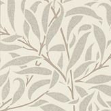 Morris Pure Willow Bough Ecru / Silver Wallpaper - Product code: 216023