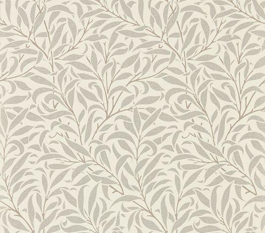 Morris Pure Willow Bough Ecru / Silver Wallpaper - Product code: 216023